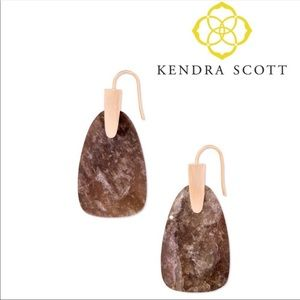 Kendra Scott Marty Rosegold Drop Earrings